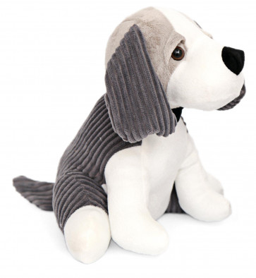 Charming Beagle Dog Doorstop - Novelty Animal Door Stop - Grey