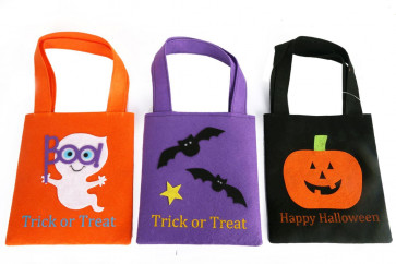 Felt Halloween Trick Or Treat Bag For Candy Sweets ~ Design Vary