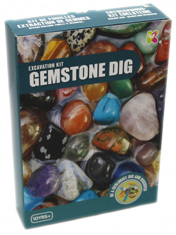 Discover Gemstones Excavation Digging Kit Science Toy ~ Make Your Own Gemstone Necklace Activity