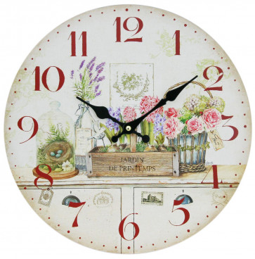 34Cm Round Kitchen Dining Wall Clock ~ Jardin De Printemps