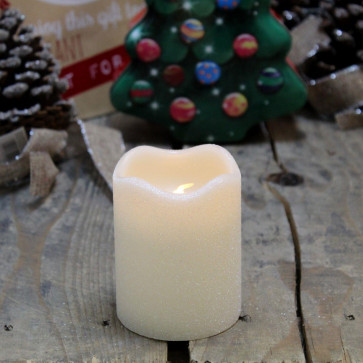 Flameless Led Christmas Candle With Timer ~ 9Cm