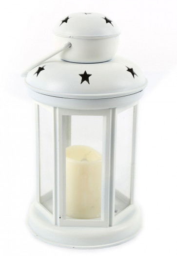 White Star Led Candle Lantern - Moroccan Style Garden Wedding Party Tealight Holder