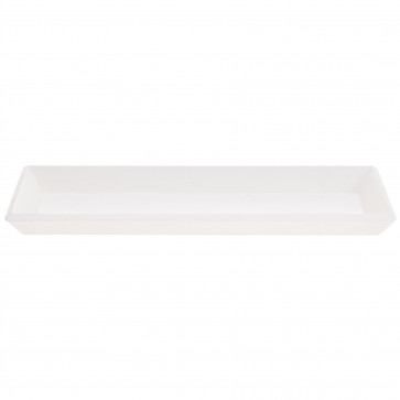 Contemporary White Wooden Display Tray   Trinket Tray Jewellery Dish   Rectangle White Wood Decorative Storage 40cm
