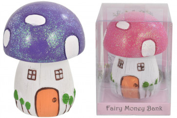 Fairyland Magical Woodland Fairy Mushroom Toadstool Money Box Piggy Bank