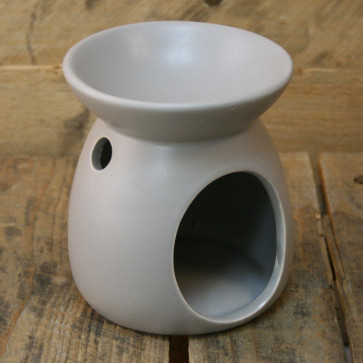 Ceramic Tealight Candle Holder Essential Oil Burner ~ Light Grey