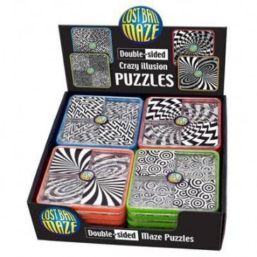 Cheatwell Games Double Sided Lost Ball Maze Puzzle ~ Design Vary