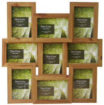 9 Multi Wood Effect Photo Frame