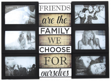 Wall Hanging Black Plastic Multiframe Collage Picture Quote Photo Frame ~ Friends