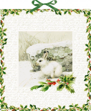Deluxe Traditional Card Advent Calendar Large - Winter Rabbit