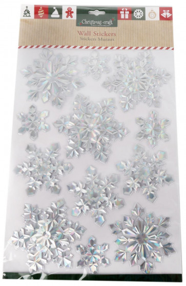 Christmas Wall Stickers Decal Decoration Craft Pack - Snowflakes