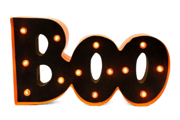 Battery Operated Light Up Boo Halloween Sign Decoration
