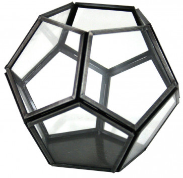 Multi Faceted Glass Candle Tealight Holder 14Cm X 12Cm