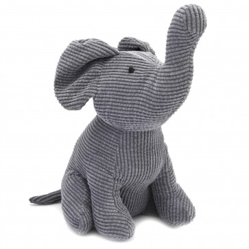 30cm Ribbed Elephant Doorstop | Decorative Fabric Animal Door Stop | Novelty Door Stopper - Colour Varies One Supplied