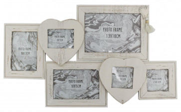 Shabby Chic Multi Photo Frame ~ Wooden Collage Picture Frame