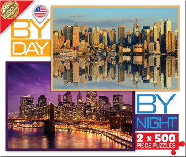 Cheatwell Games By Day By Night New York Jigsaw Puzzle