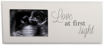 Ultrasound Baby Scan First Picture Wooden Photo Frame ~ Love At First Sight