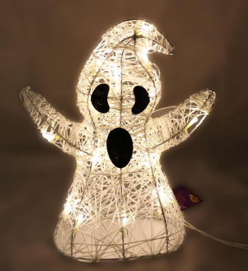 Light Up LED Halloween Decoration Ghost 36cm