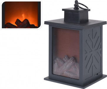 Light Up LED Realistic Warming Lantern Fireplace Christmas Decoration