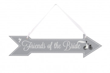 Friends Of The Bride Wooden Hanging Sign ~ Wedding Decoration