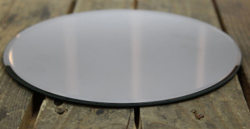 Round Glass Mirror Candle Plate Stand 20Cm