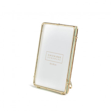Small Gold Wire Freestanding Portrait Photo Picture Frame 6 x 4