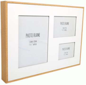 White Wood Edge Multi Photo Frame 36Cm X 27Cm