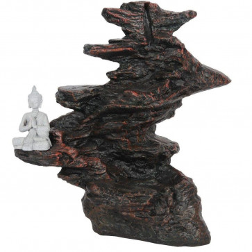 Buddha Backflow Incense Burner | Waterfall Back Flowing Incense Cone Burner Holder | Aromatherapy Burner Ornament - 25cm