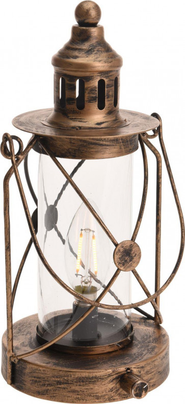 Antique Style Battery Operated Light Up LED Paraffin Oil Lamp Hurricane Storm Lantern Decoration
