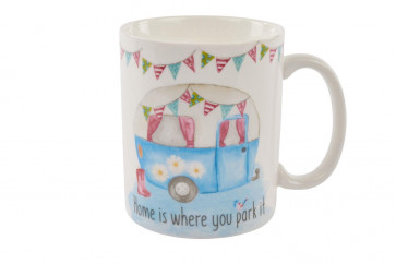 Ceramic Retro Caravan Camping Tea Cup Coffee Mug ~ Lovely Caravan Mug