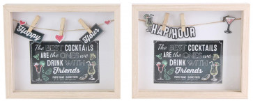 Clothes Line Wooden Box Frame With Pegs For Cocktail Party Photo 4 x 6 ~ Design Vary