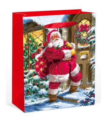 XL Extra Large Traditional Santa Claus Father Christmas Present Gift Bag 45cm x 33cm