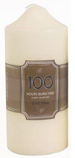 100 Hours Burn Time Overdipped Church Pillar Candle