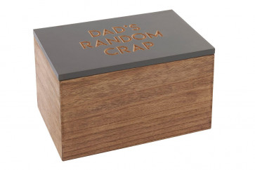 Dad's Random Cr@p Bits And Bobs Wooden Storage Box - Men's Present Gift Box - Best Fathers Day Gifts