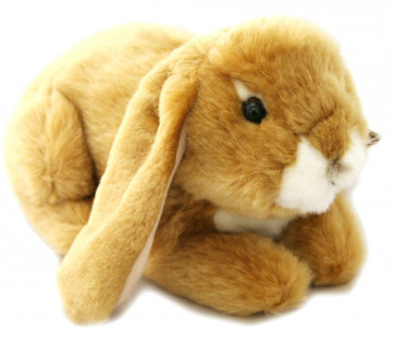 Living Nature Lop Eared Rabbit Soft Toy - Toffee