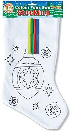 Colour Your Own Christmas Stocking ~ Bauble