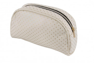 Absolutely Fabulous Gold Polka Dot Makeup Cosmetic Toiletry Bag