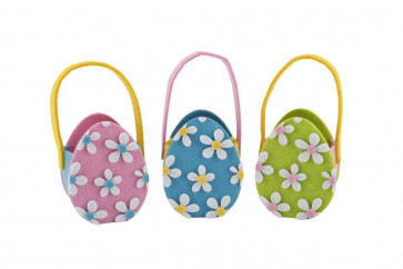 Easter Mini Felt Egg Hunt Bag ~ Easter Egg Hunt Basket Colour Vary