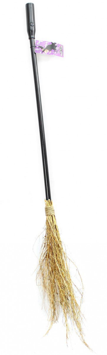 Haunted House Battery Operated Witch's Broom Stick With Witch Cackle Sound Halloween Accessory