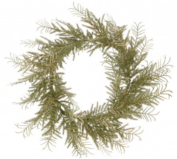 Large Christmas Wreath Door Decoration with Twinkling Gold Glitter - 45cm