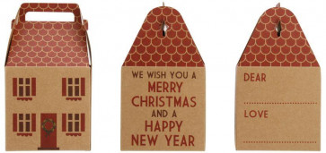 House Shape Christmas Gift Box ~ Merry Christmas And Happy New Year