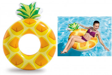 Intex 56266 Inflatable Swimming Pool Rubber Ring Float Pineapple Tube