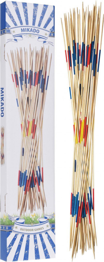 Traditional Retro Giant Mikado Wooden Pick Up Sticks Outdoor Garden Game