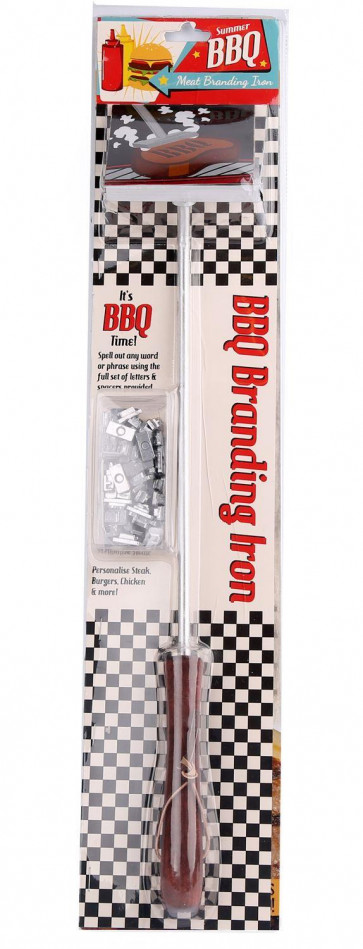 Summer BBQ Meat Branding Iron Barbecue Accessory