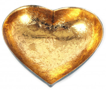 Black And Copper Metal Heart Tealight Candle Holder 11cm
