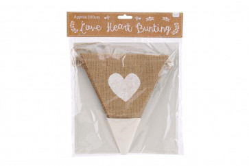 Love Hessian Jute Bunting For Wedding, Engagements, Anniversary Parties
