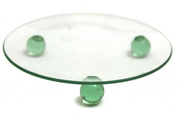 Clear Glass Tealight Votive Candle Holder Plate 10Cm