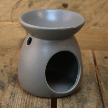 Ceramic Tealight Candle Holder Essential Oil Burner ~ Dark Grey