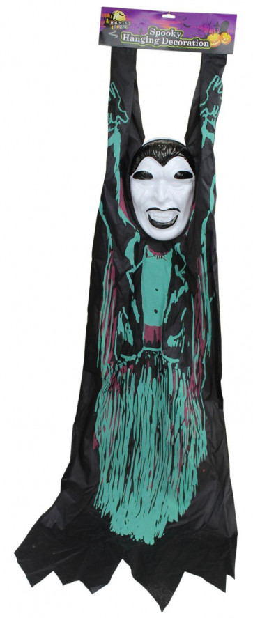 Haunted House 150Cm Spooky Hanging Decoration - Ghostly Halloween Door Wall Hanger - Scary Floaty Dracula Ghoul