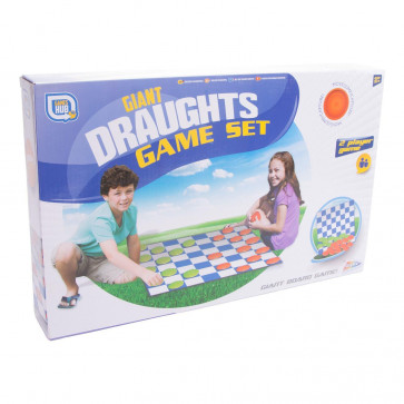 Grafix Games Hub Giant Draughts Board Game Set For Indoor Or Outdoor