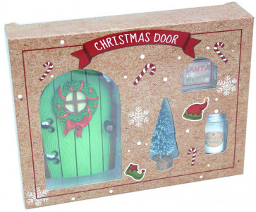 Magical Christmas Elf Fairy Resin Door Gift Set and Accessories